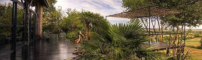 Vue du loft gersois de Thierry Rastier - la terrasse