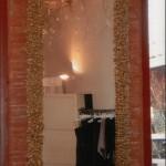 Miroir articulé doré, magasin centre Toulouse