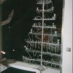 Sapin de Noël, acier plastique