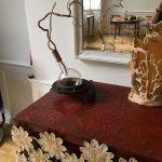 Sculpture vase, fonte et verre