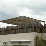 Palissade bois naturel et brise soleil