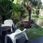 Point de vue terrasse sur jardin